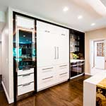 Paneled Fridge Wall