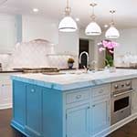 Painted Kitchen with Accent Island
